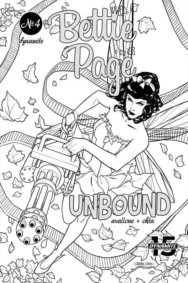 Bettie Page Unbound #4 Cover L Incentive Julius Ohta Black & White Cover