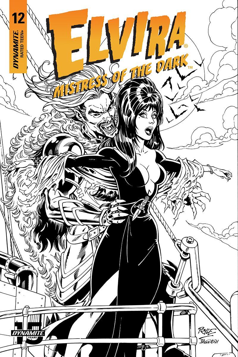 Elvira Mistress Of The Dark Vol 2 #12 Cover I Incentive John Royle Black & White Cover