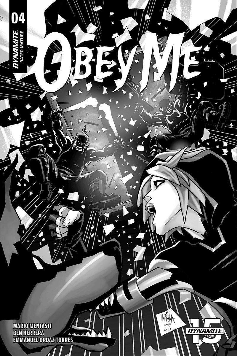 Obey Me #4 Cover B Incentive Ben Herrera Black & White Cover