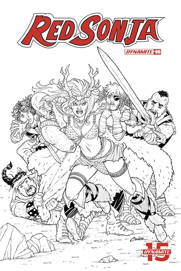 Red Sonja Vol 8 #6 Cover G Incentive Amanda Conner Black & White Cover