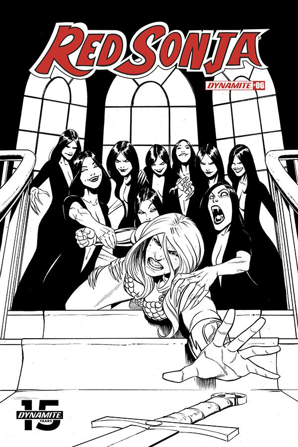 Red Sonja Vol 8 #6 Cover J Incentive Bob Q Seduction Black & White Variant Cover