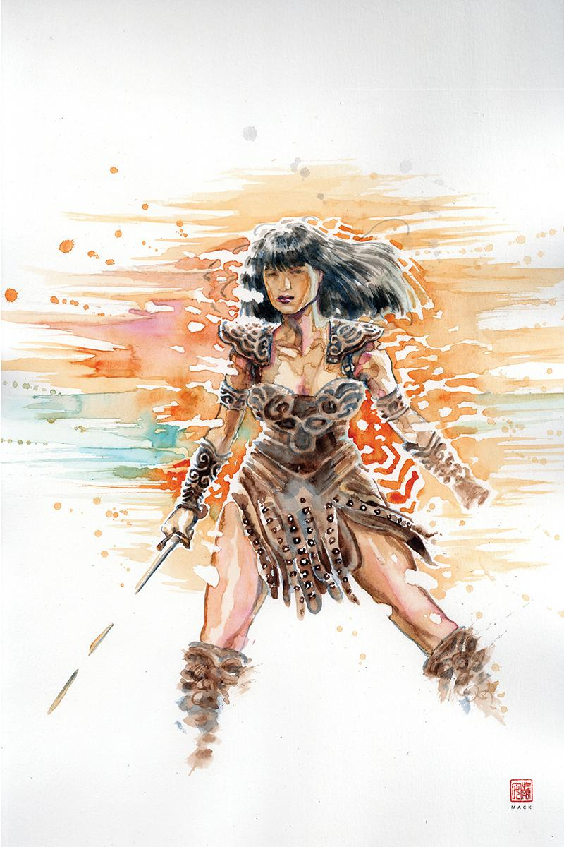 Xena Warrior Princess Vol 4 #4 Cover D Incentive David Mack Virgin Cover
