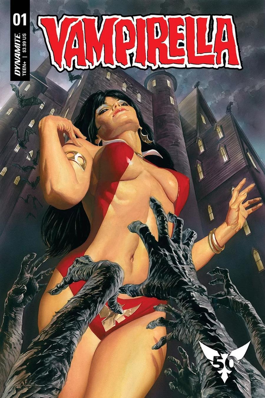 Vampirella Vol 8 #1 Cover X Variant Alex Ross Cover CGC Graded