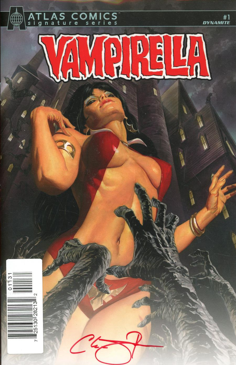 Vampirella Vol 8 #1 Cover Q Atlas Comics Signature Series Signed By Christopher Priest