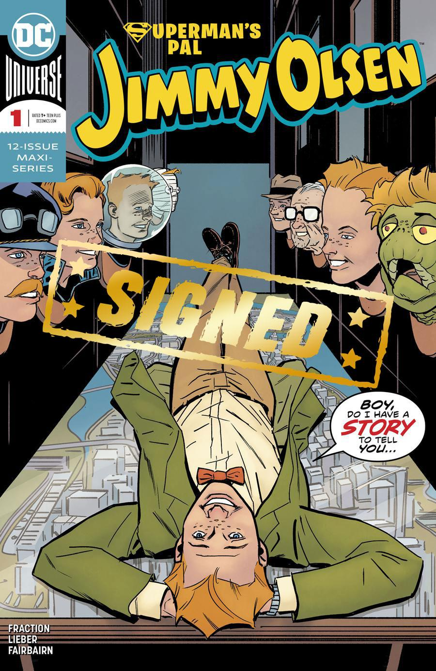 Supermans Pal Jimmy Olsen Vol 2 #1 Cover C DF Signed By Steve Lieber