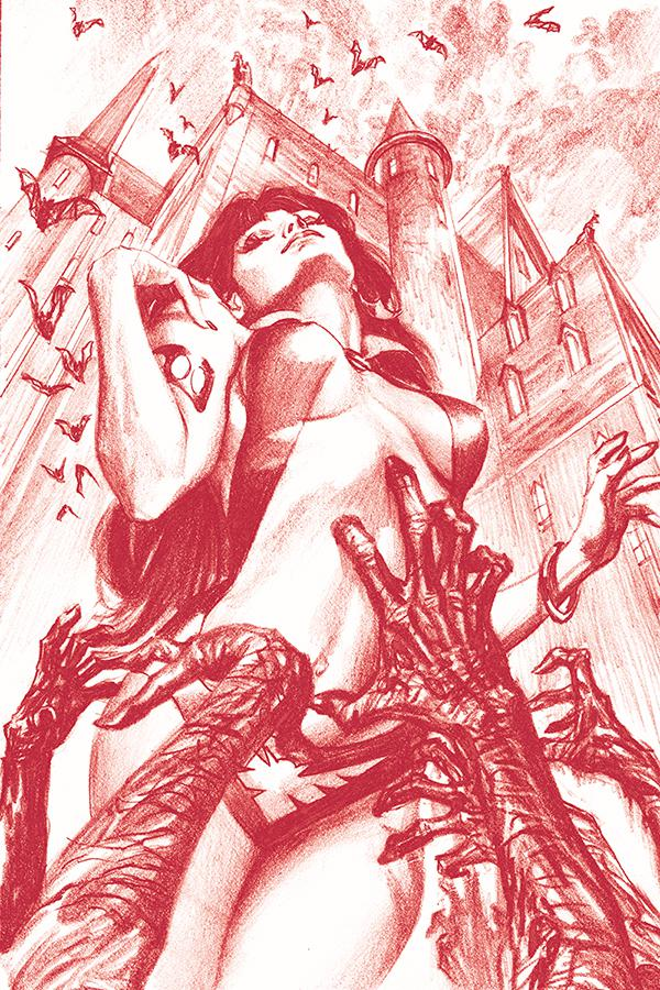 Vampirella Vol 8 #1 Cover Z-A DF Exclusive Alex Ross Blood Red Pencil Variant Cover