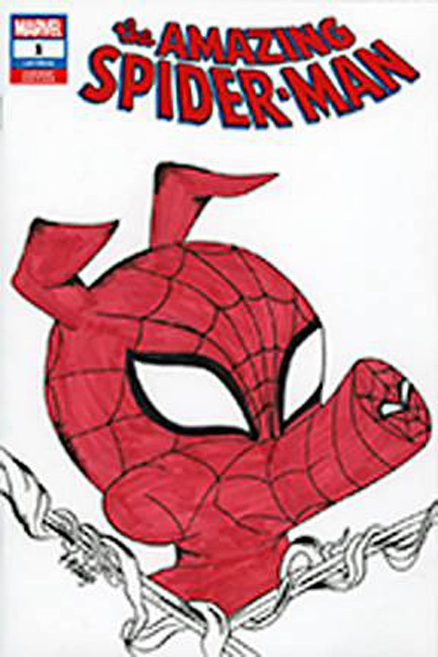 Amazing Spider-Man Vol 5 #1 Cover Z-R DF Signed & Remarked With A Spider-Ham Hand-Drawn Sketch By Katie Hidalgo