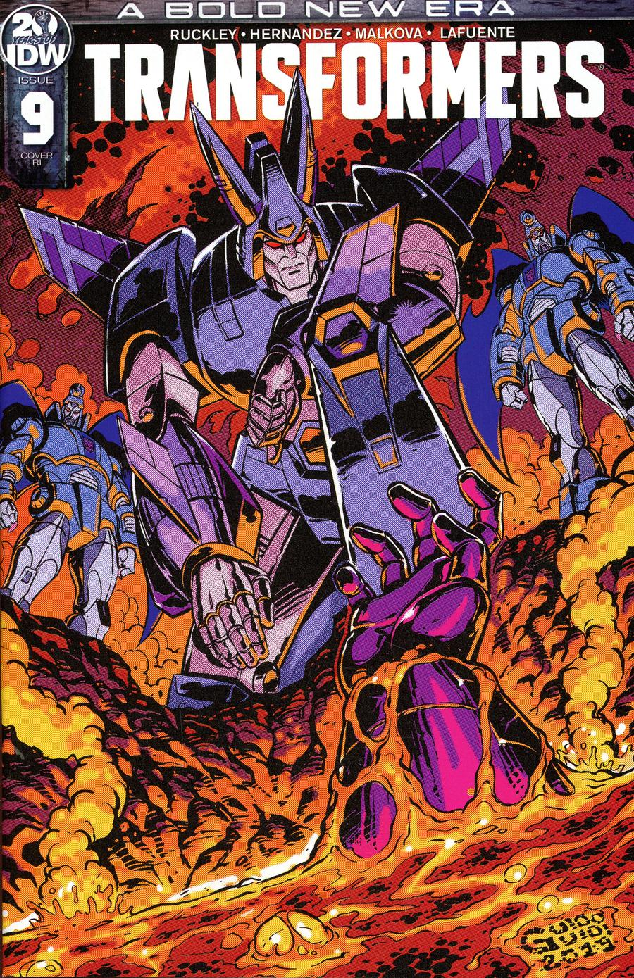 Transformers Vol 4 #9 Cover C Incentive Guido Guidi Variant Cover
