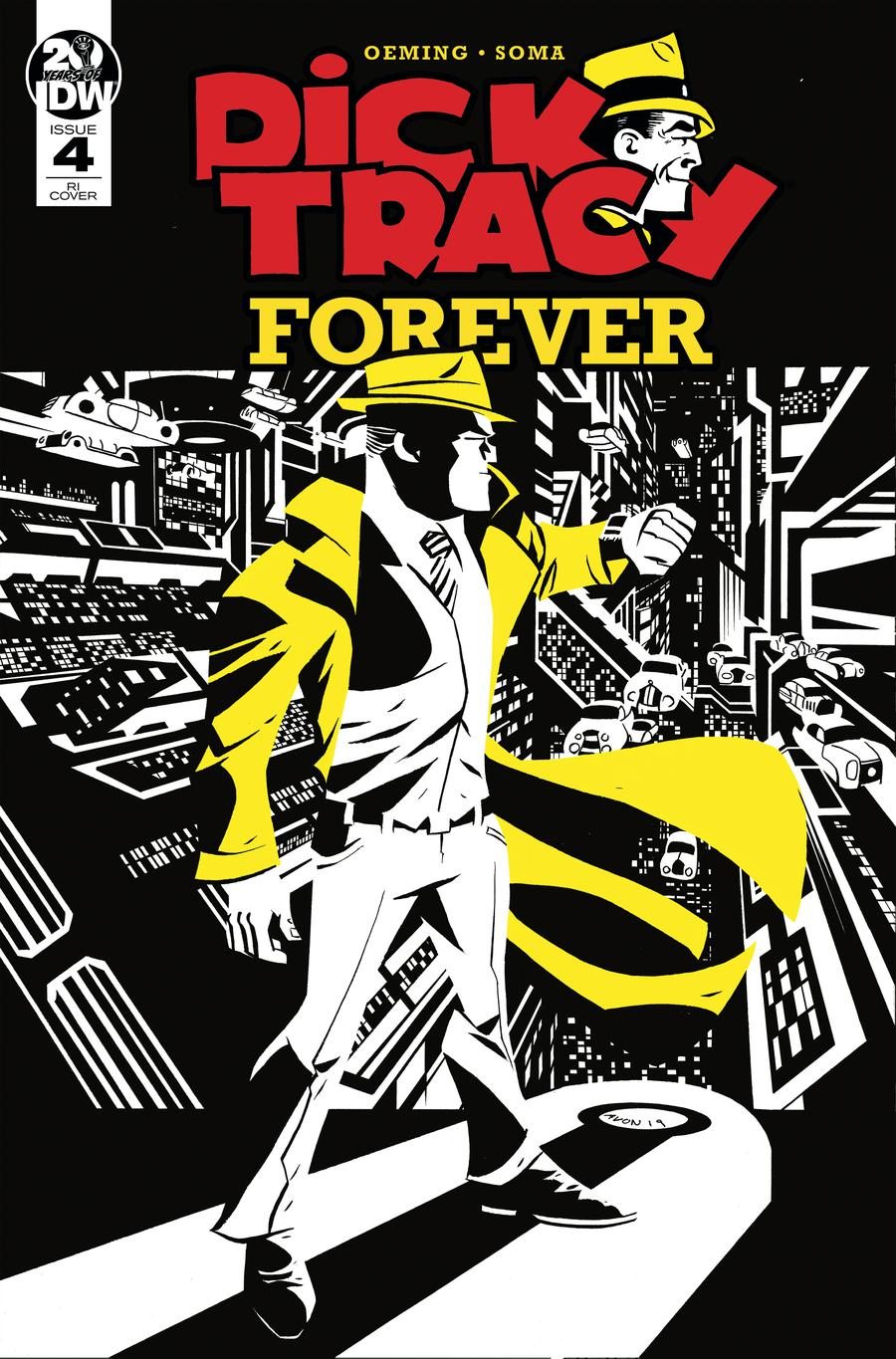 Dick Tracy Forever #4 Cover B Incentive Michael Avon Oeming Variant Cover