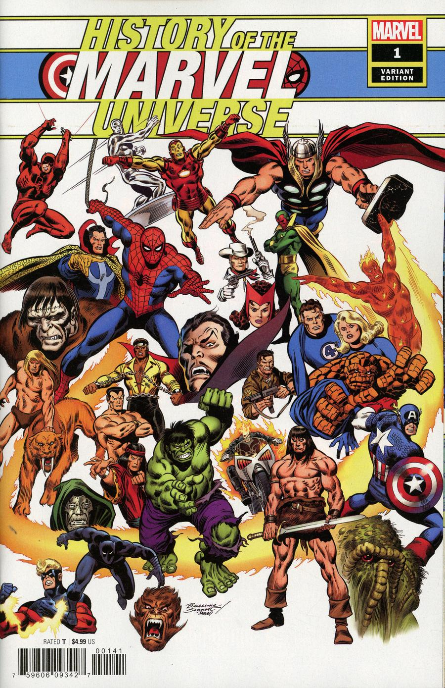 History Of The Marvel Universe #1 Cover E Incentive John Buscema Hidden Gem Variant Cover