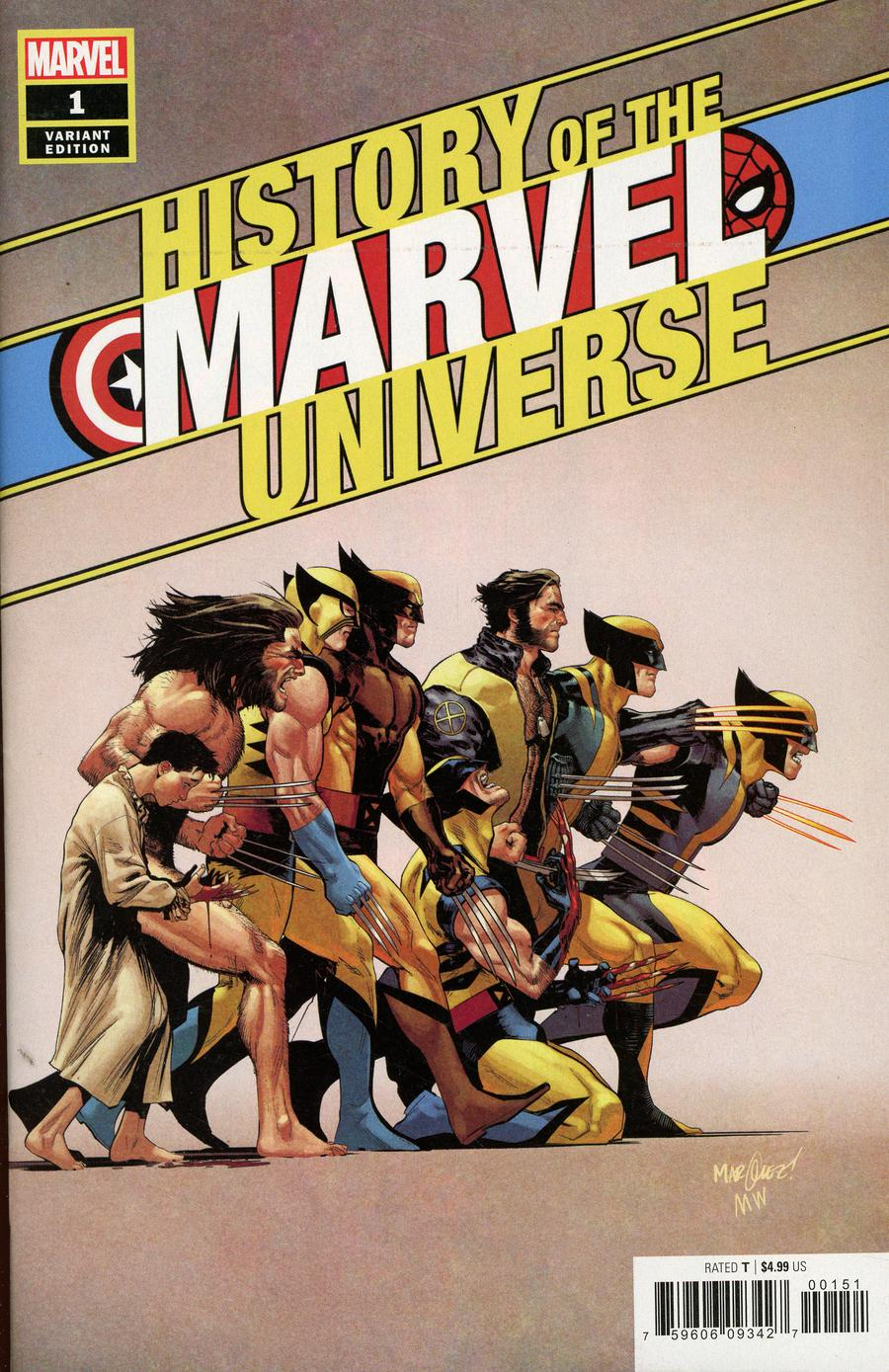 History Of The Marvel Universe #1 Cover D Incentive David Marquez Variant Cover