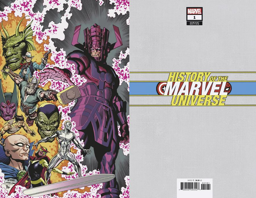 History Of The Marvel Universe #1 Cover F Incentive Steve McNiven Virgin Cover