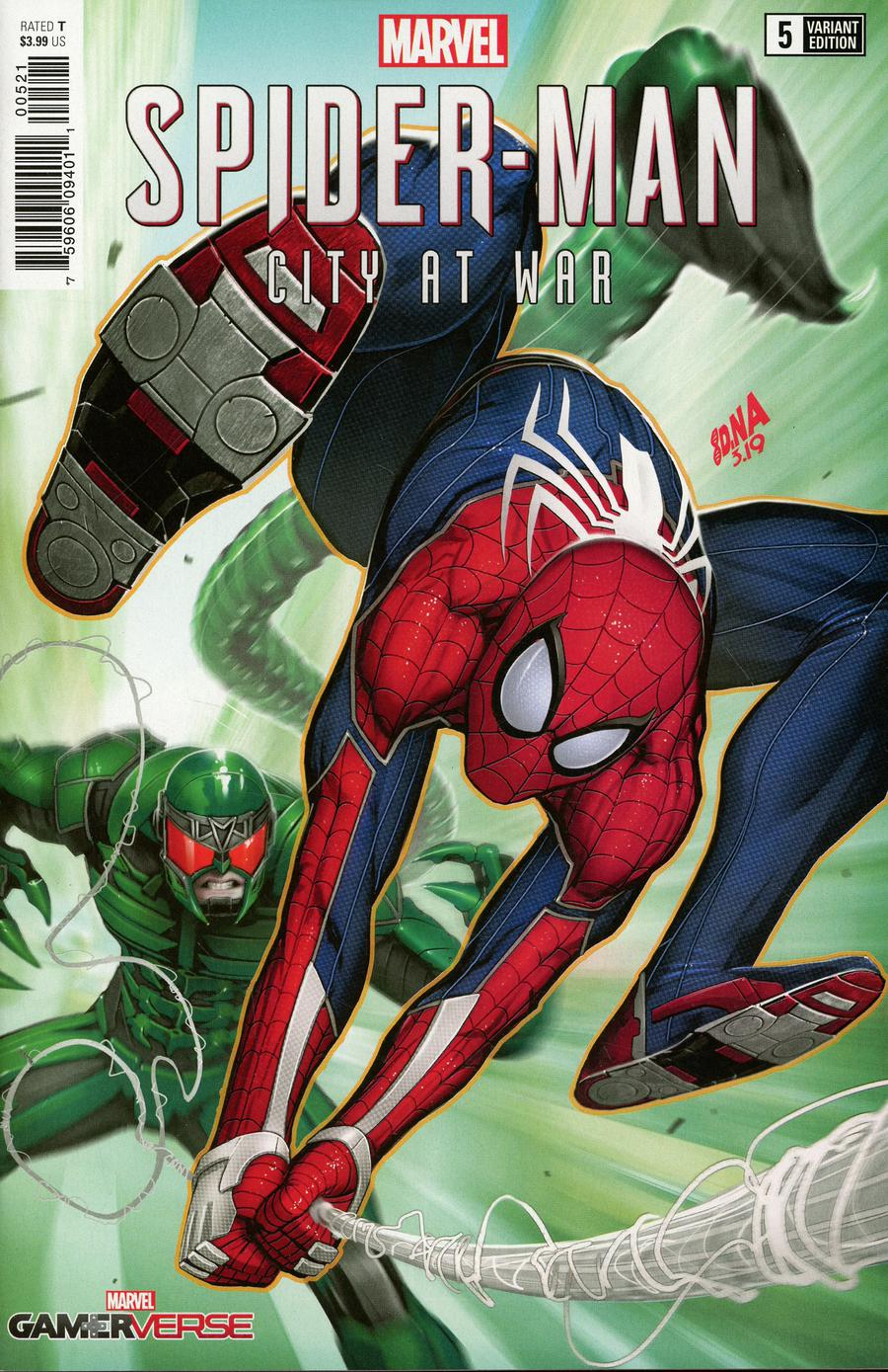 Marvels Spider-Man City At War #5 Cover C Incentive David Nakayama Variant Cover