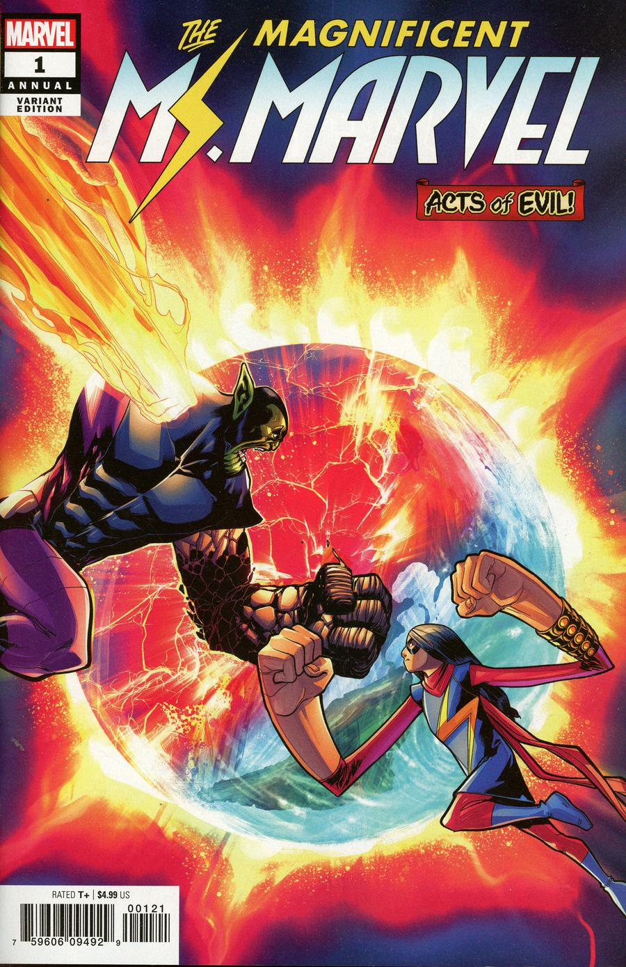 Ms Marvel Vol 4 Annual #1 Cover C Incentive David Baldeon Variant Cover (Acts Of Evil Tie-In)