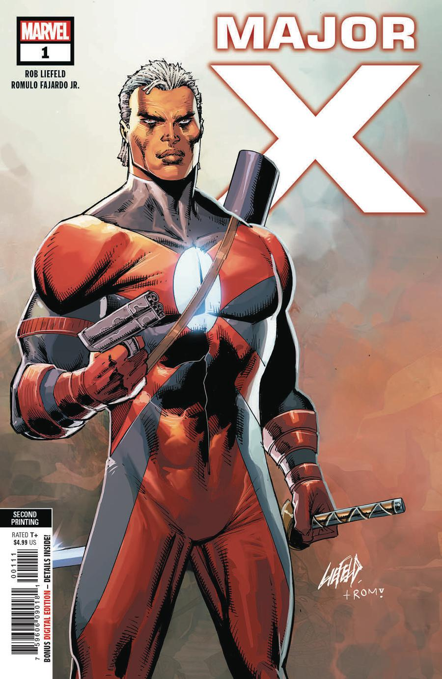 Major X #1 Cover D 2nd Ptg Variant Rob Liefeld Cover