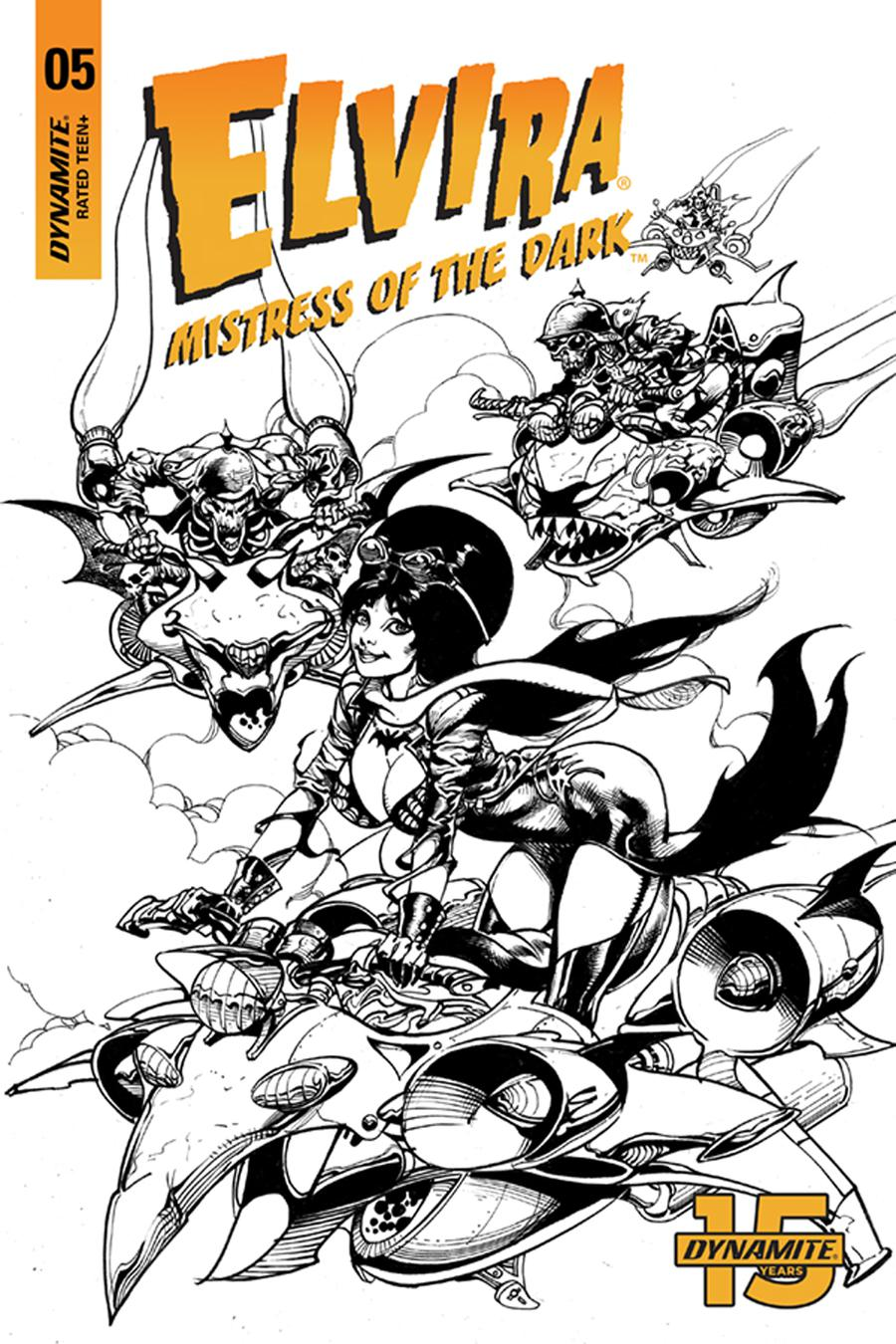 Elvira Mistress Of The Dark Vol 2 #5 Cover G Incentive Roberto Castro Black & White Cover