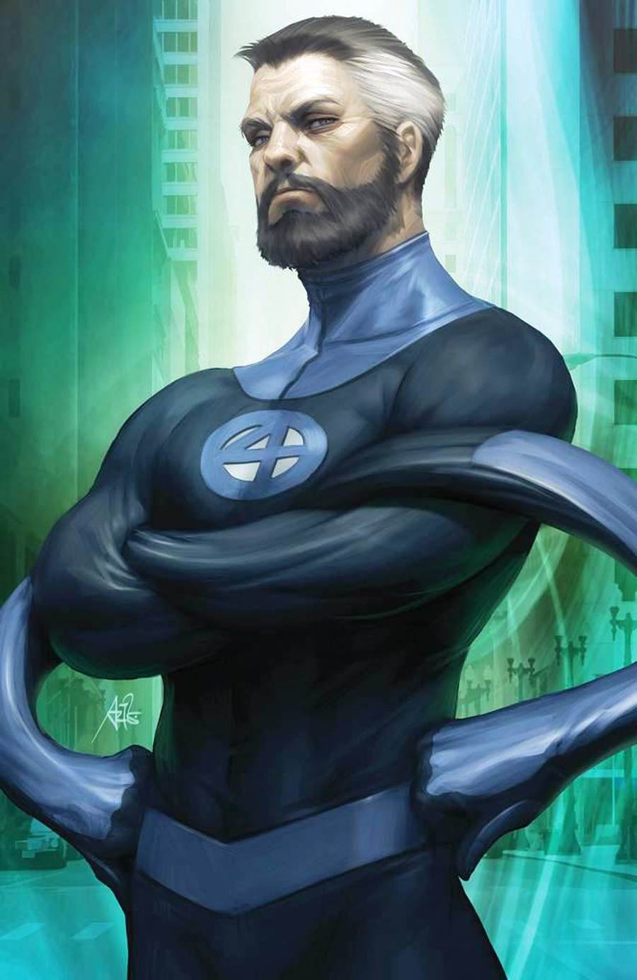 Fantastic Four Vol 6 #1 Cover Z-M Variant Stanley Artgerm Lau Virgin Mr Fantastic UnknownComics Cover