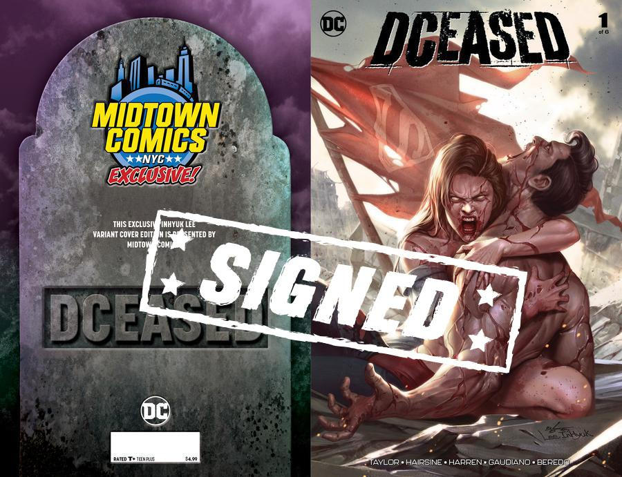 DCeased #1  Midtown Exclusive Cover A Inhyuk Lee Connecting Variant Cover Signed By Tom Taylor