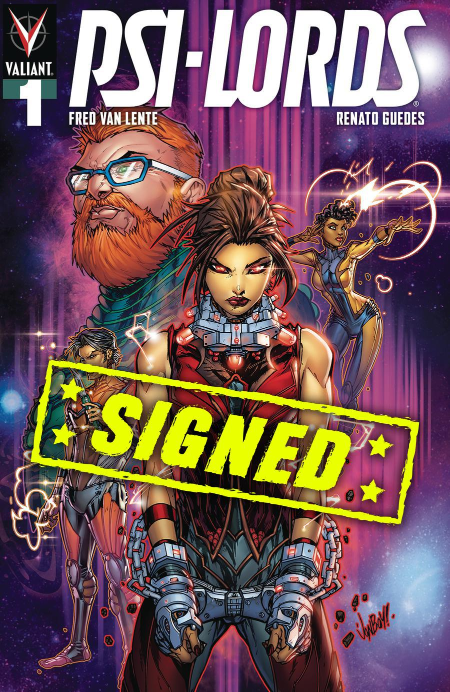 Psi-Lords Vol 2 #1 Cover H Variant Jonboy Meyers Cover Signed By Fred Van Lente