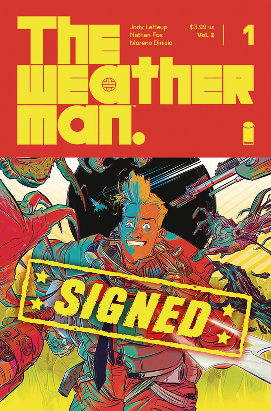 Weatherman Vol 2 #1 Cover D Regular Nathan Fox Cover Signed By Jody LeHeup & Nathan Fox