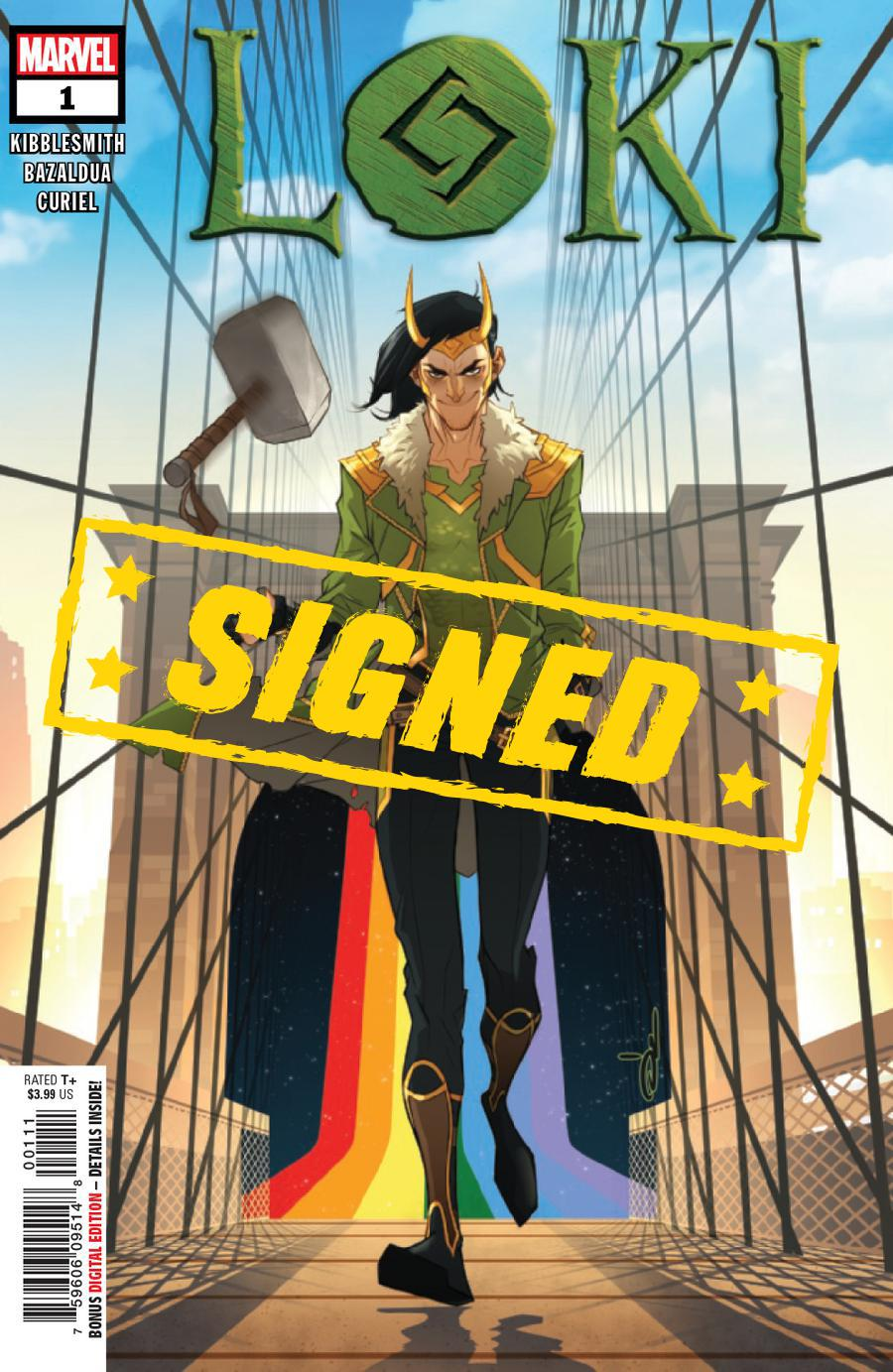 Loki Vol 3 #1 Cover E Regular Ozgur Yildirim Cover Signed By Daniel Kibblesmith