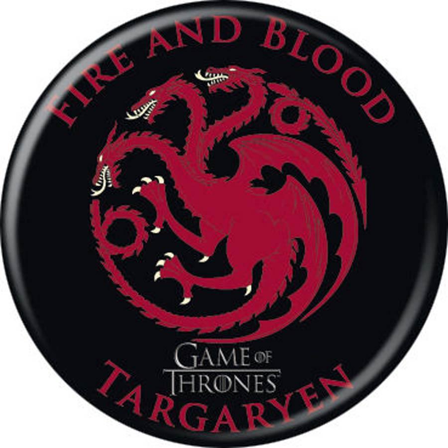 Game Of Thrones 1.25-inch Button - Targaryen Emblem (87349)