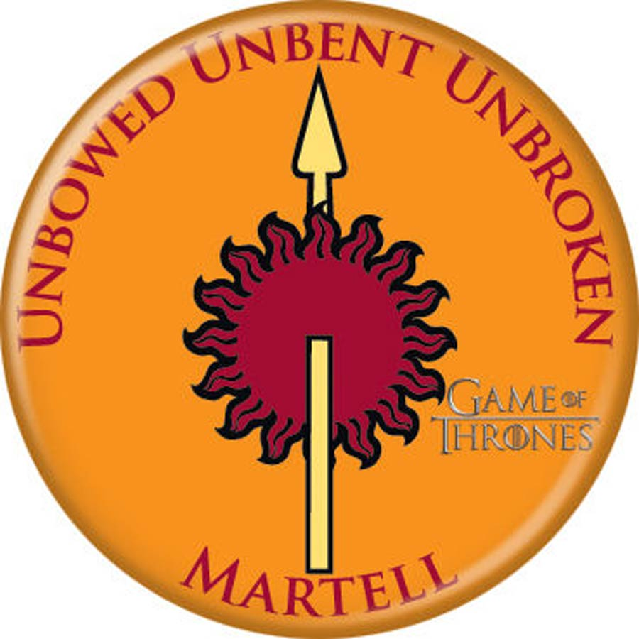Game Of Thrones 1.25-inch Button - Martell Emblem (87350)