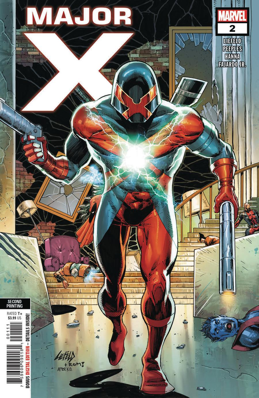 Major X #2 Cover C 2nd Ptg Variant Rob Liefeld Cover