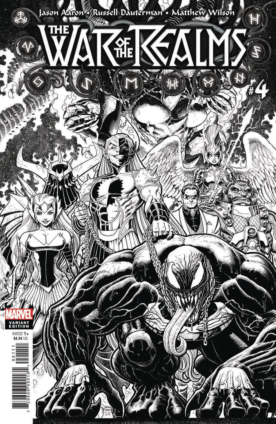 War Of The Realms #4 Cover H Incentive Arthur Adams Black & White Cover