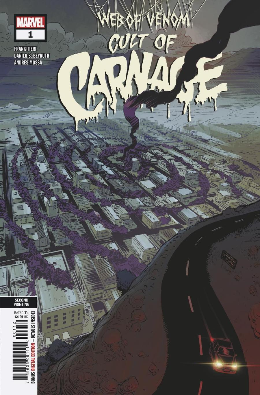 Web Of Venom Cult Of Carnage #1 Cover E 2nd Ptg Variant Danilo Beyruth Cover