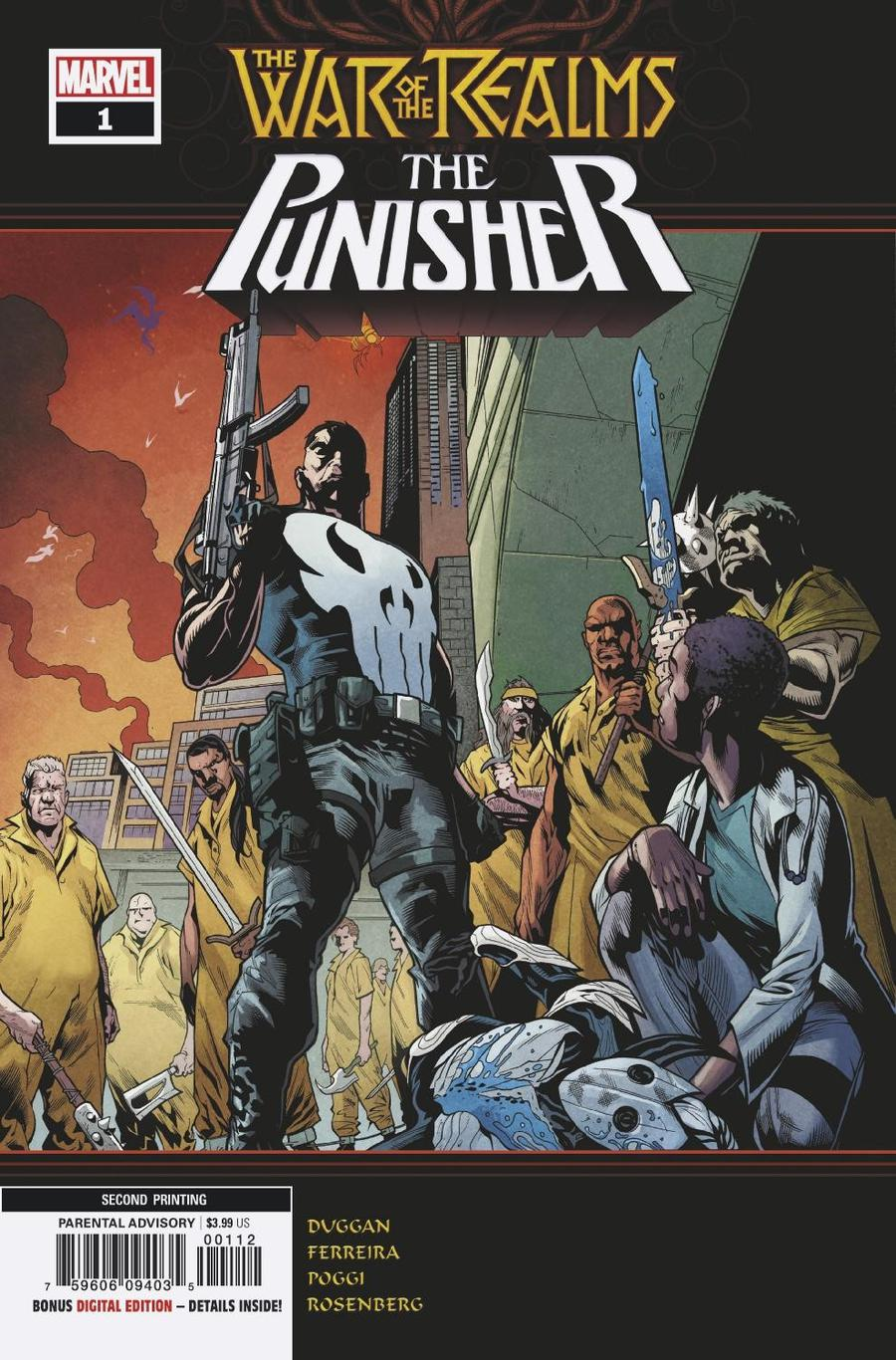 War Of The Realms Punisher #1 Cover E 2nd Ptg Variant Marcelo Ferreira Cover