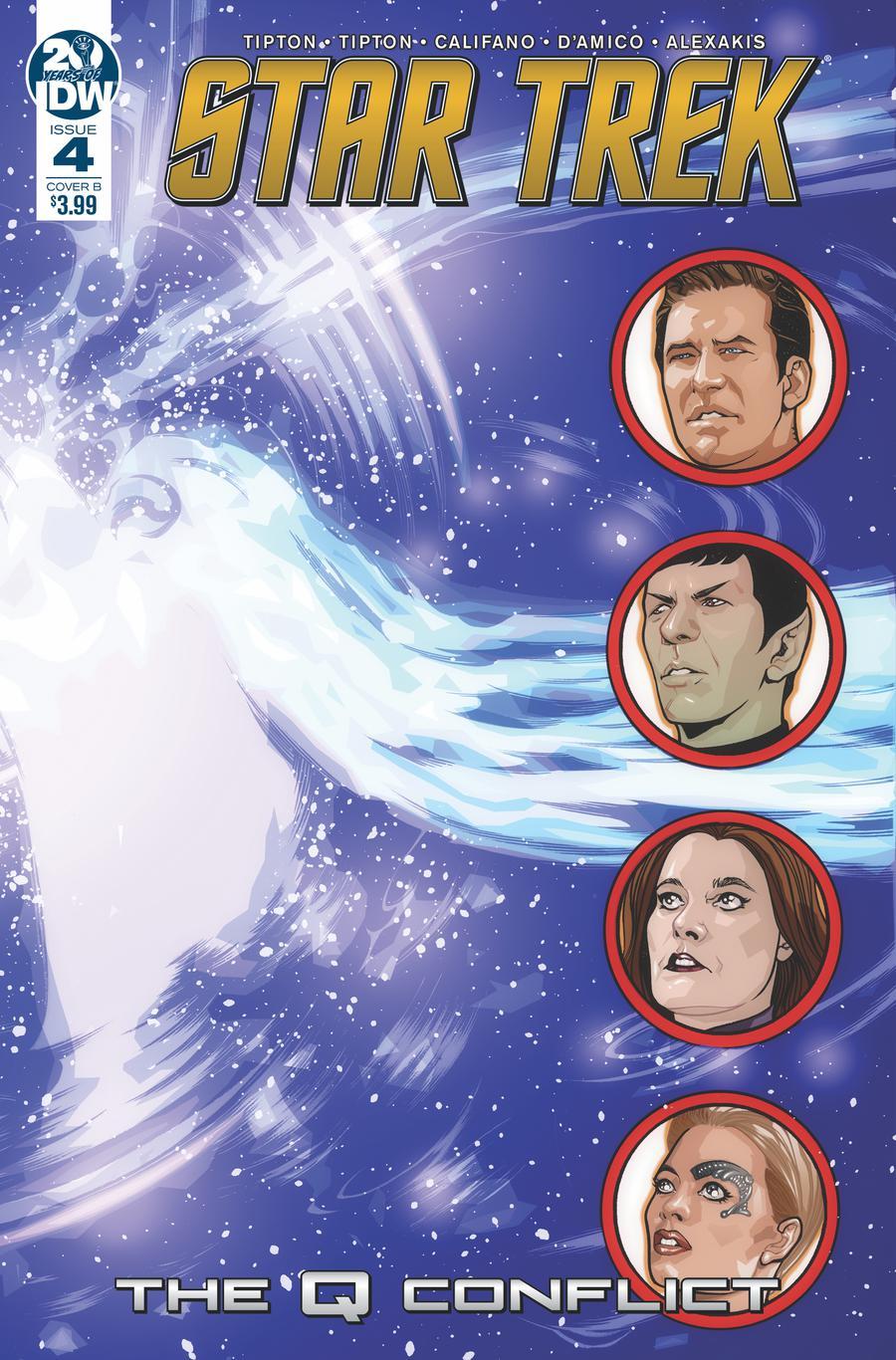 Star Trek Q Conflict #4 Cover B Variant David Messina Cover