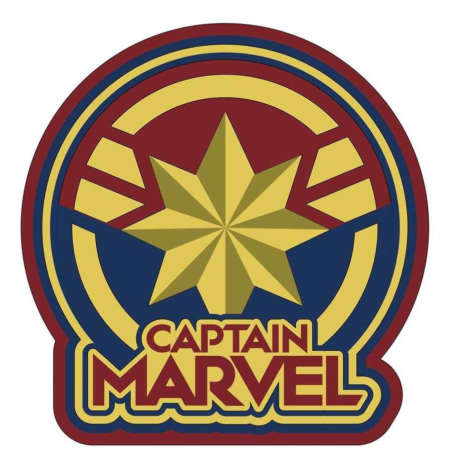 Captain Marvel Logo Soft Touch PVC Magnet