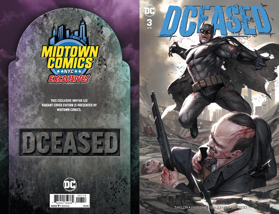 DCeased #3  Midtown Exclusive Cover A Inhyuk Lee Connecting Variant Cover