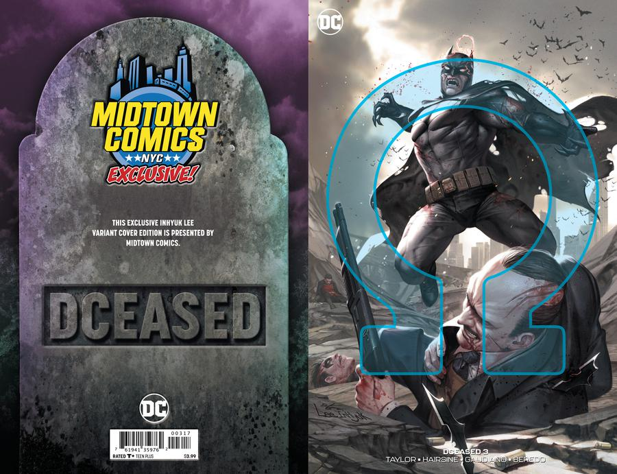 DCeased #3  Midtown Exclusive Cover B Inhyuk Lee Connecting Omega Variant Cover
