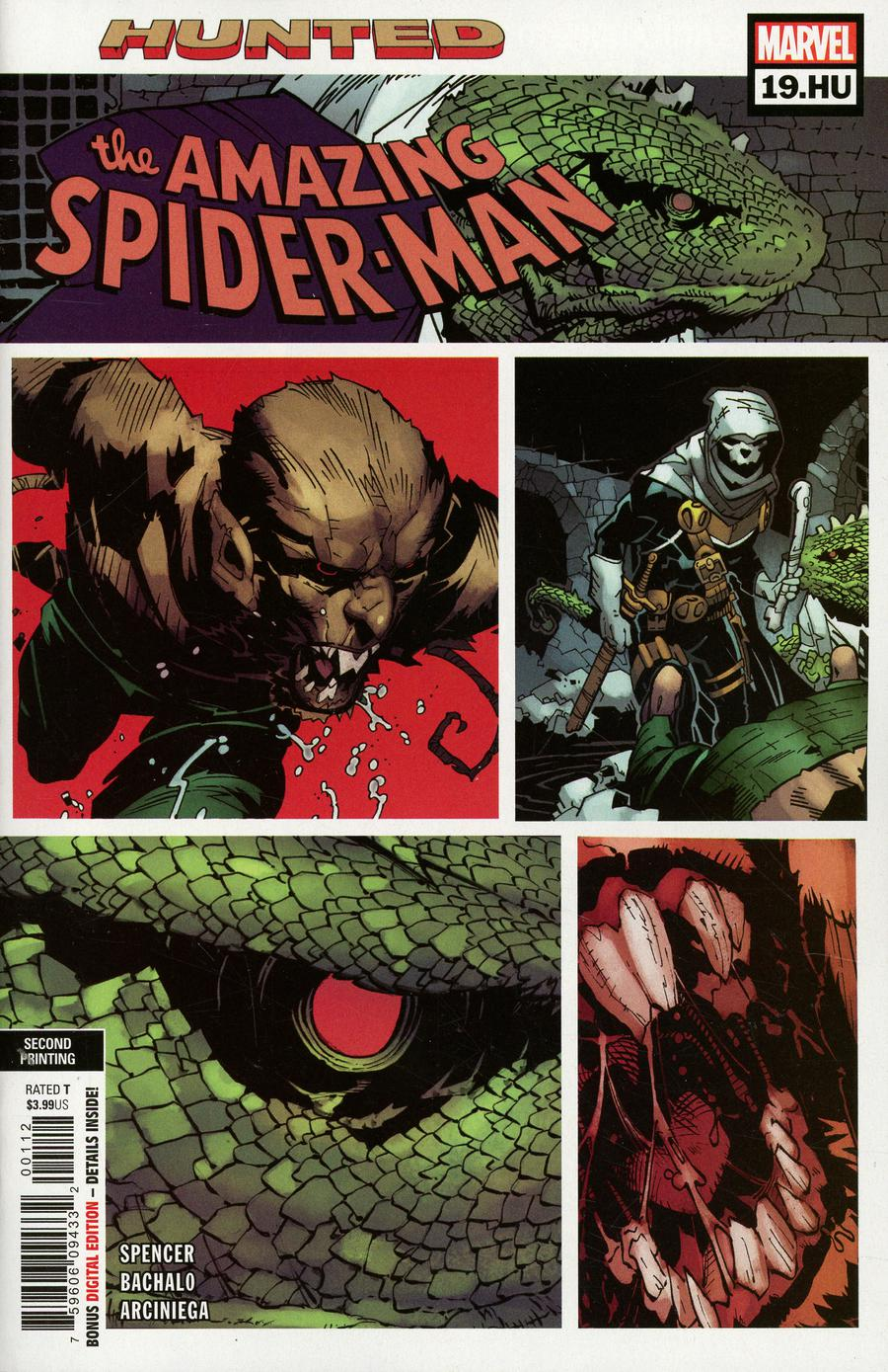 Amazing Spider-Man Vol 5 #19 HU Cover B 2nd Ptg Variant Chris Bachalo Cover