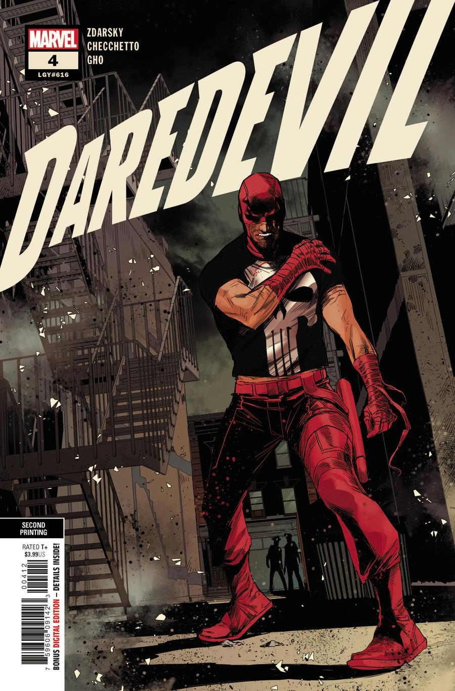 Daredevil Vol 6 #4 Cover C 2nd Ptg Variant Marco Checchetto Cover