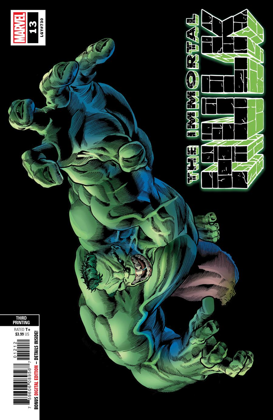 Immortal Hulk #13 Cover D 3rd Ptg Variant Joe Bennett Cover