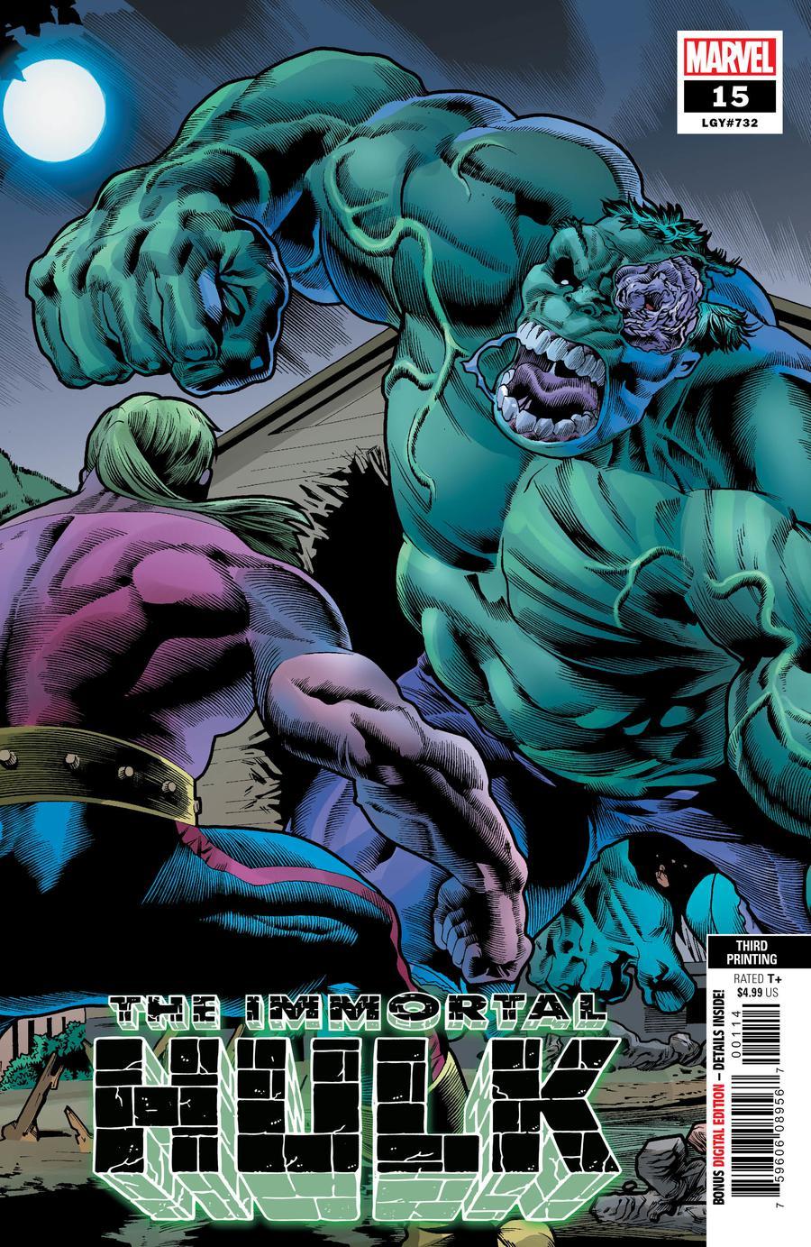 Immortal Hulk #15 Cover D 3rd Ptg Variant Joe Bennett Cover