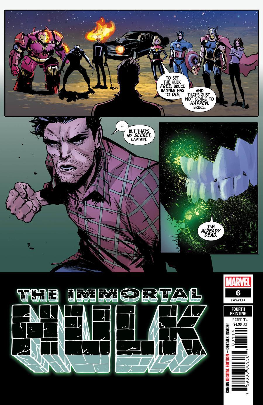 Immortal Hulk #6 Cover E 4th Ptg Variant Lee Garbett Cover