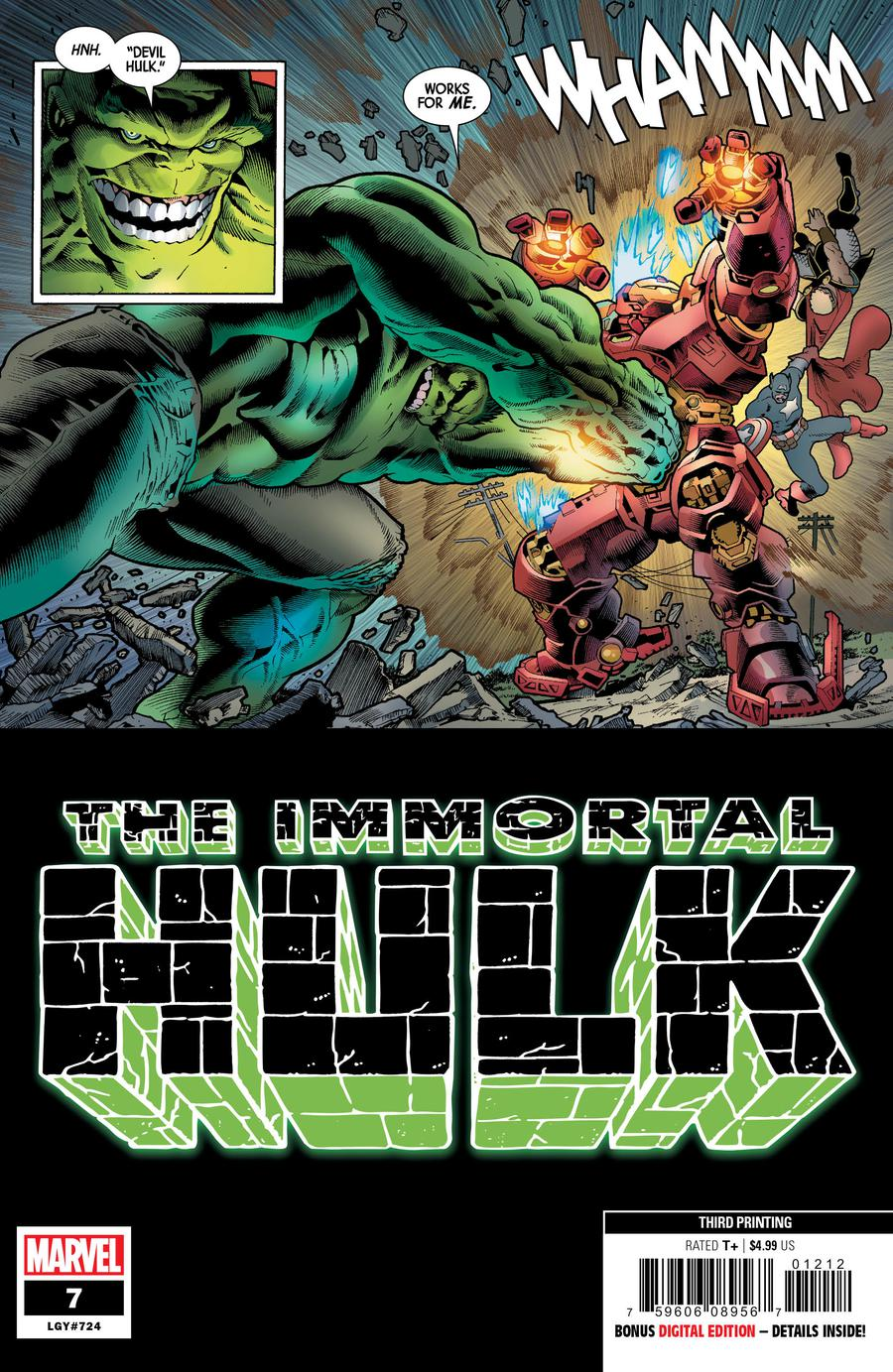 Immortal Hulk #7 Cover F 3rd Ptg Variant Joe Bennett Cover