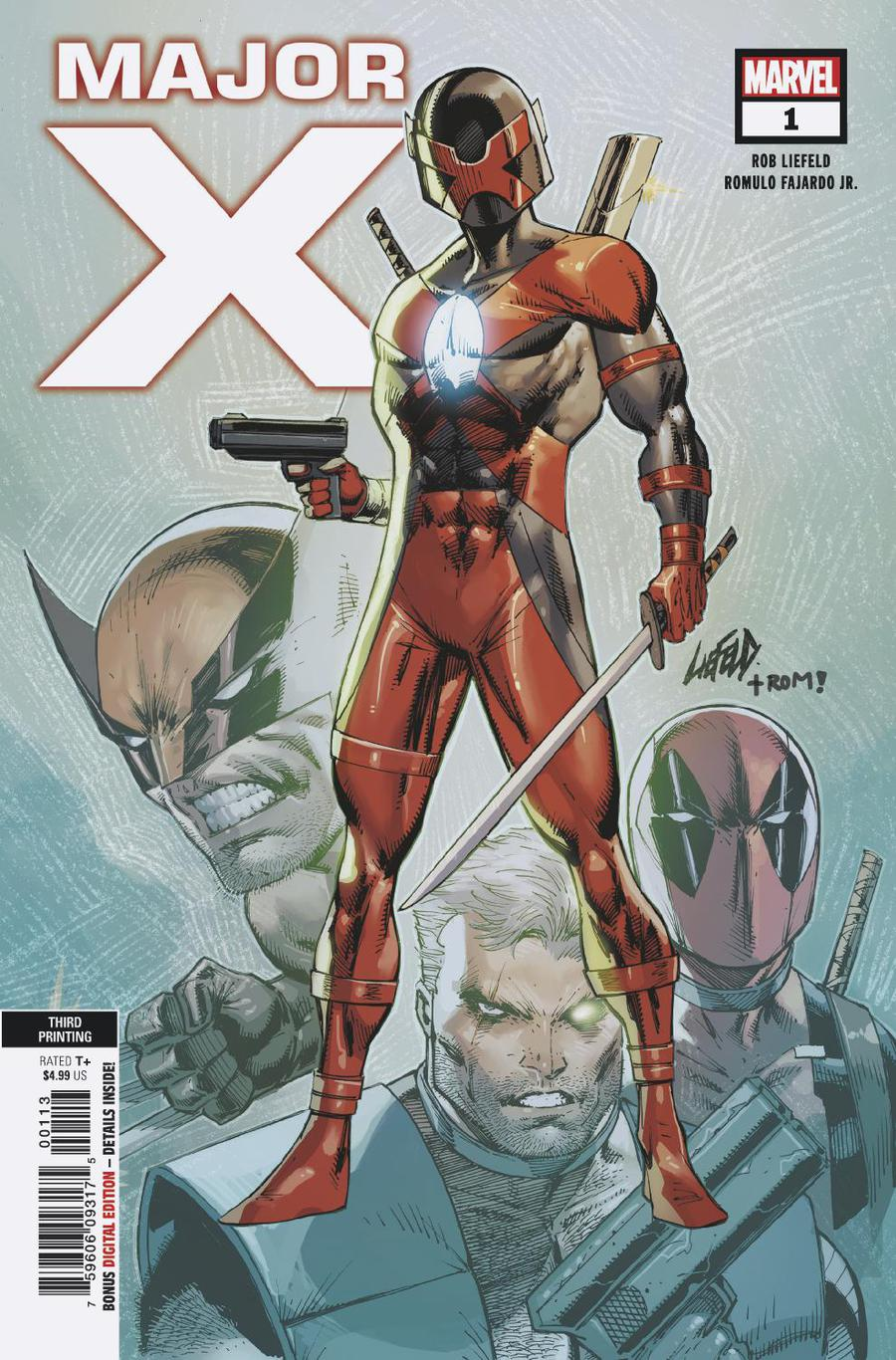 Major X #1 Cover E 3rd Ptg Variant Rob Liefeld Cover