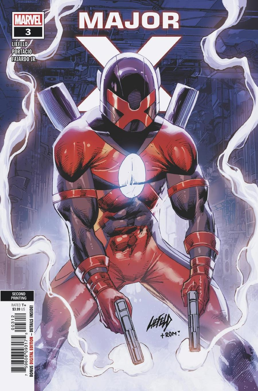 Major X #3 Cover B 2nd Ptg Variant Rob Liefeld Cover