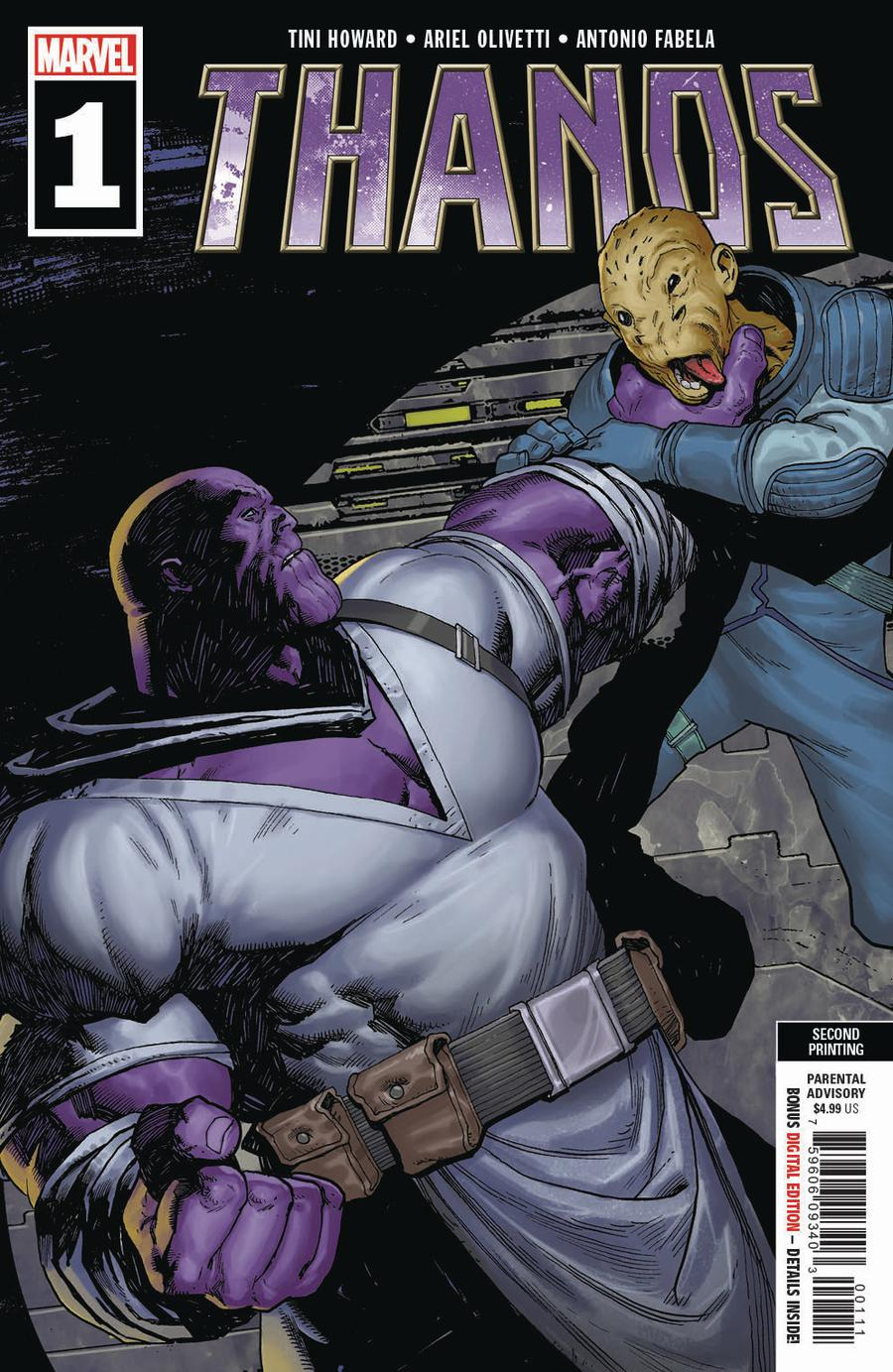Thanos Vol 3 #1 Cover J 2nd Ptg Variant Ariel Olivetti Cover