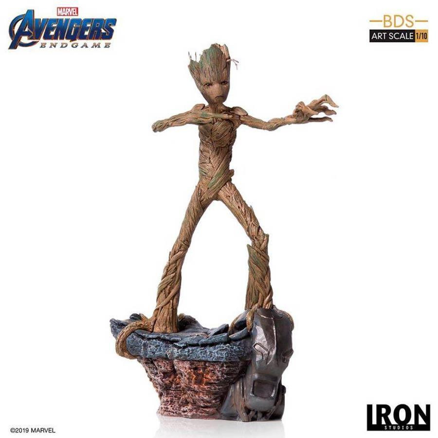 Avengers Endgame Groot Battle Diorama 1/10 Scale Art Scale Statue