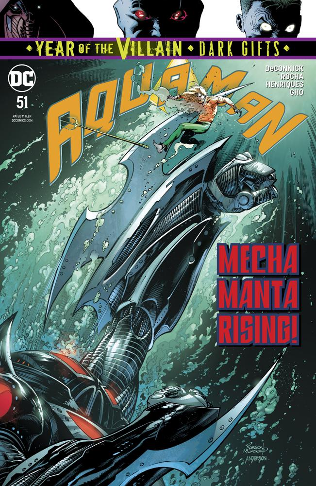 Aquaman Vol 6 #51 Cover A Regular Robson Rocha & Jason Paz Cover (Year Of The Villain Dark Gifts Tie-In)