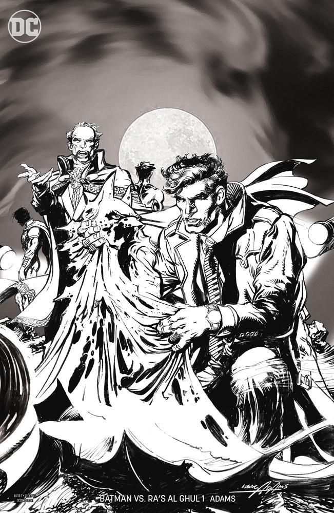 Batman vs Ras Al Ghul #1 Cover B Variant Neal Adams Black & White Cover