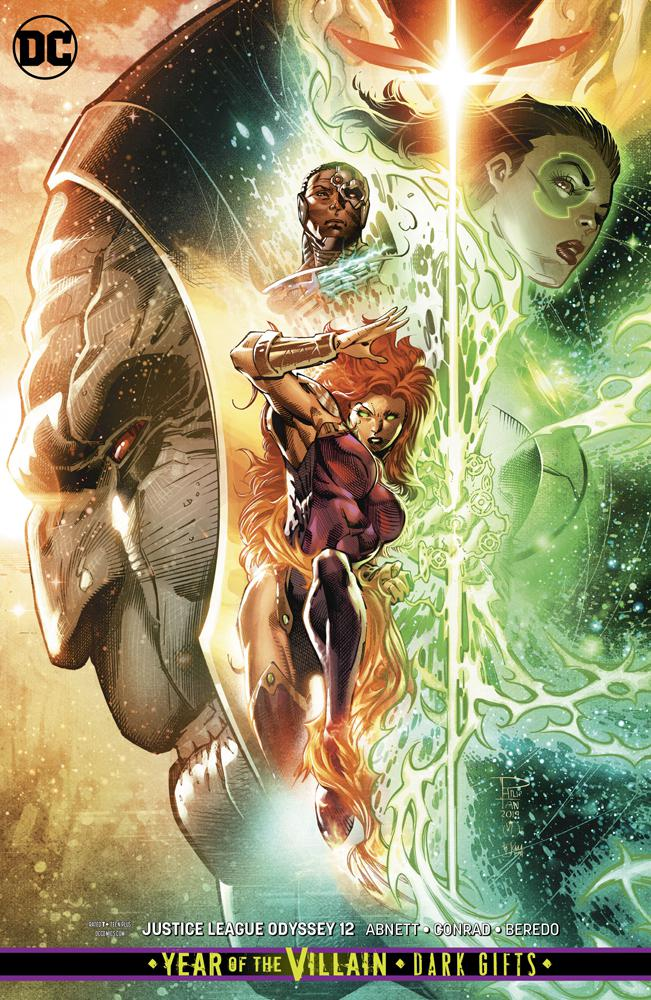Justice League Odyssey #12 Cover B Variant Philip Tan & Marc Deering Card Stock Cover (Year Of The Villain Dark Gifts Tie-In)