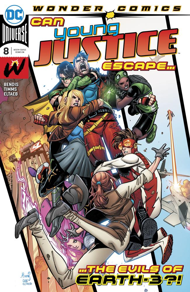 Young Justice Vol 3 #8 Cover A Regular John Timms Cover (Year Of The Villain Dark Gifts Tie-In)