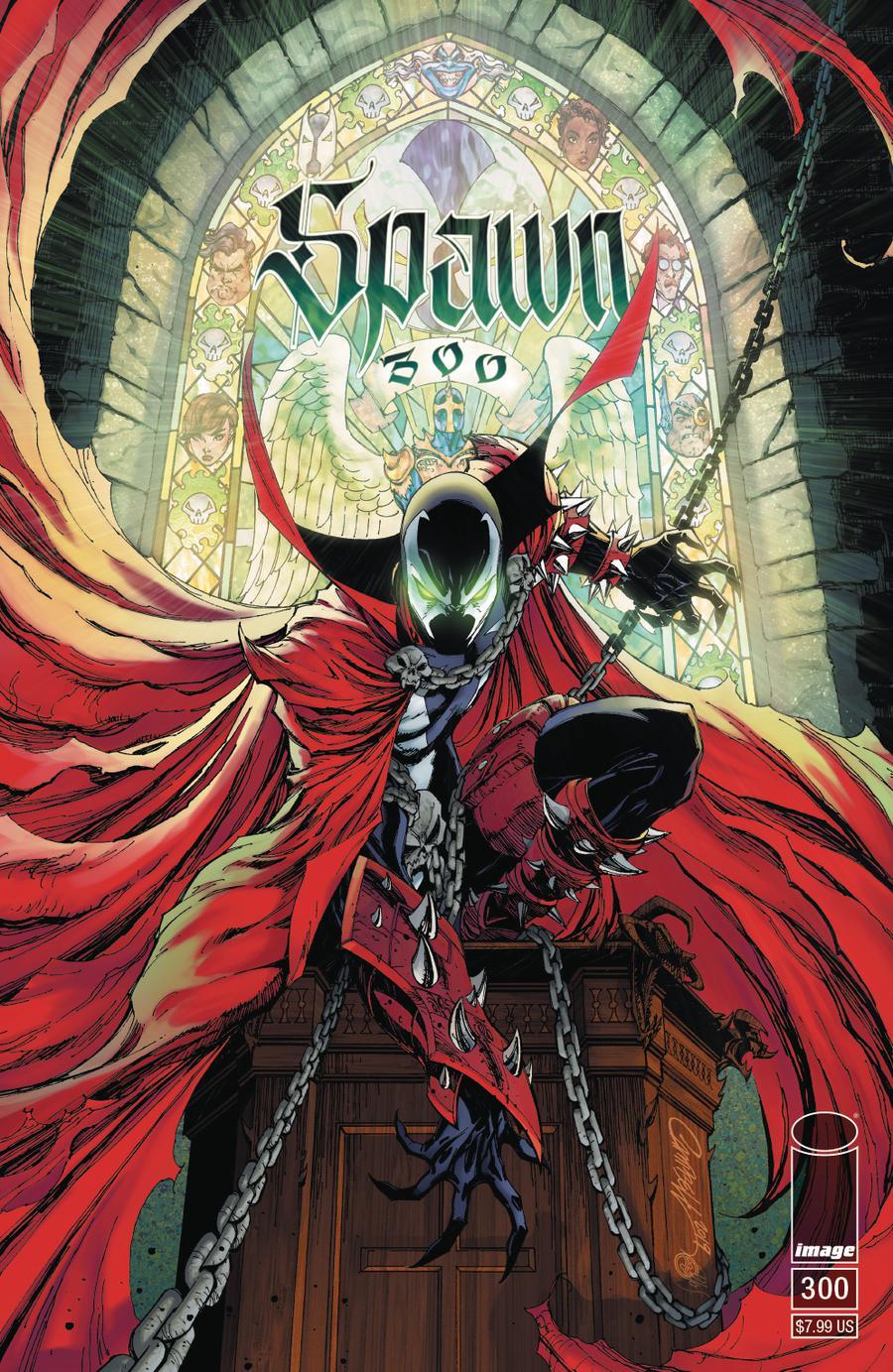 Spawn #300 Cover G Variant J Scott Campbell Cover